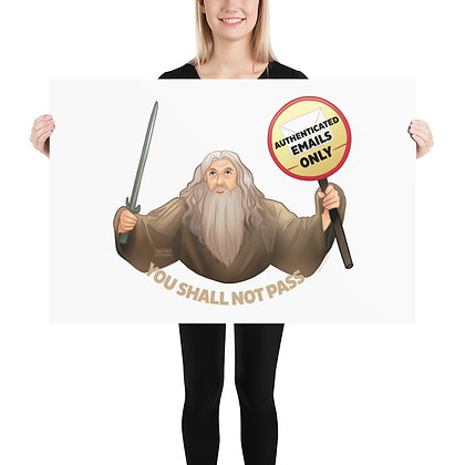 Gandalf the Postmaster Poster
