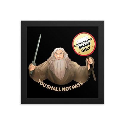 Gandalf the Postmaster Framed photo paper poster