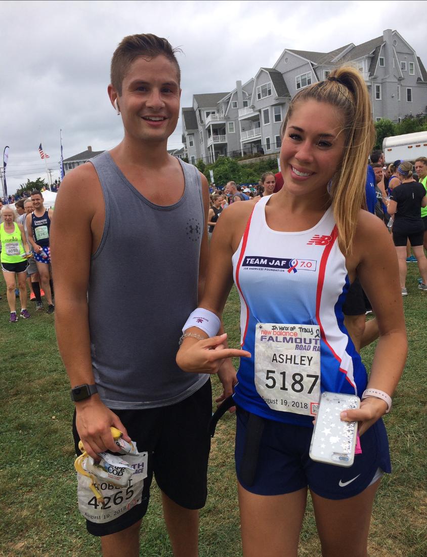 Nick and Ashley Shultz Finish Falmouth Road Race