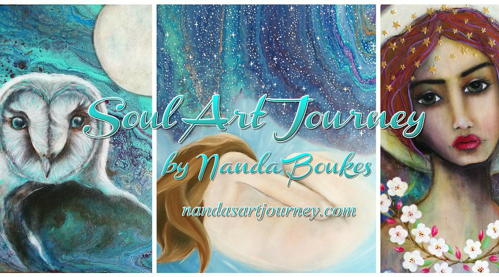Nanda's Art Journey: Spiritual Paintings by Nanda Boukes