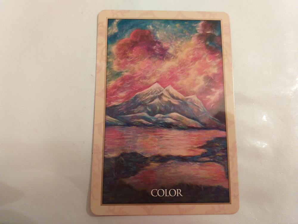 """""""Colour"""" from the Magdalene Oracle card deck by Toni Carmine Solerno"""