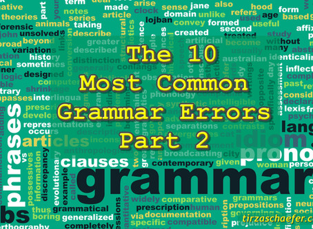 Thoughts Inspirtation Education: The 10 Most Common Grammar Errors Part 2