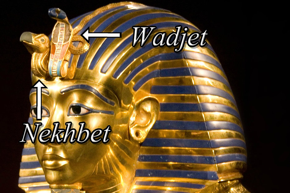 Wadjet on Death Mask Tut Ankh Amun 4x6.j