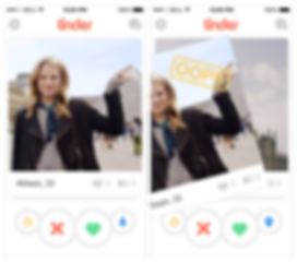 Tinder UX , Dating app, טינדר