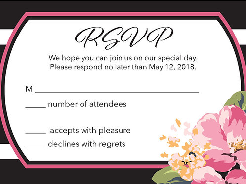 Cosmo Bloom RSVP Card