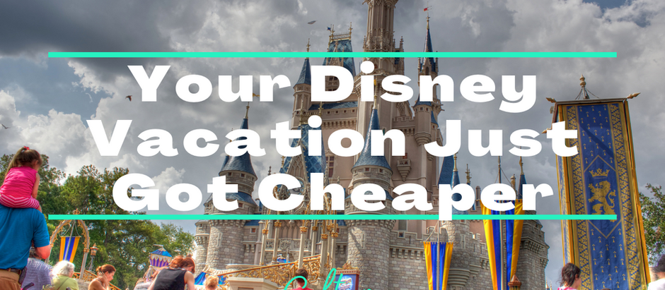 Your Disney Vacation Just got Cheaper