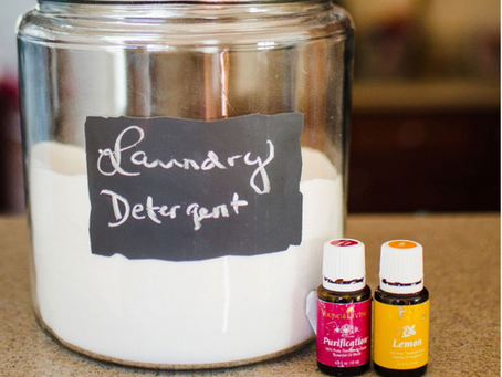 All natural powder laundry detergent
