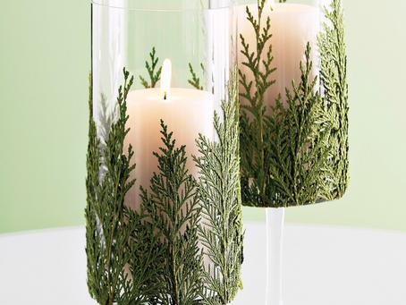 DIY Evergreen Candle