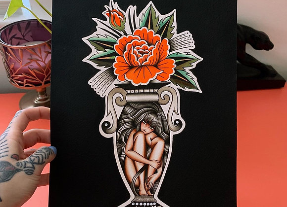 Lady Vase Painting