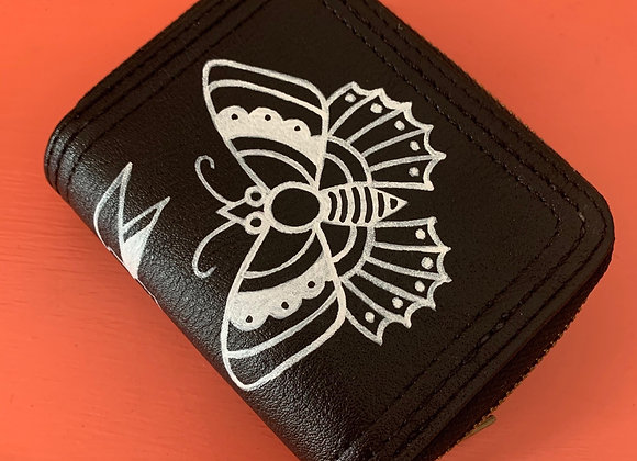 Butterfly Double-Zip Mini Wallet