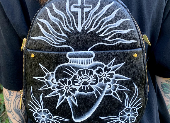 Sacred Heart Convertible Backpack