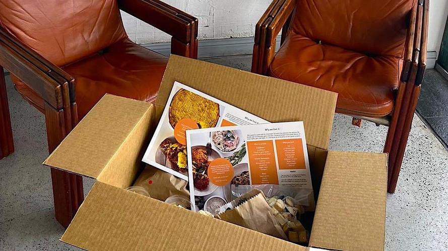 Home delivered plant-based meal kit