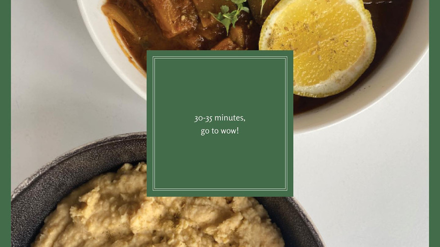 Za'atar spiced eggplant vegan meal