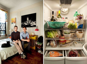 Two people + Cat Refrigerator