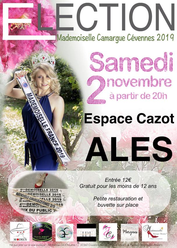 Affiche Election Miss Camargue Cévennes