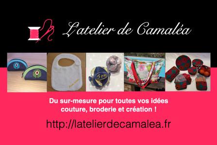 Carte de visite l'Atelier de Camaléa