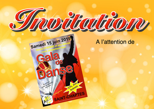 Invitation Officiels Gala 2019 - couvert