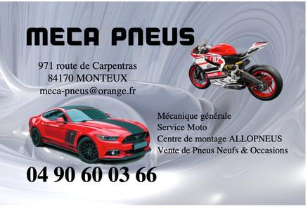 Carte de visite MECA PNEU