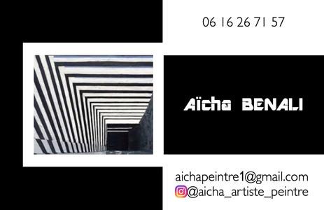Carte de visite Aïcha Peintre