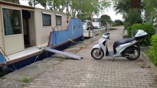 Montée du scooter