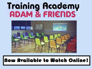 Two New Training Dates for September '18 - now available to watch online
