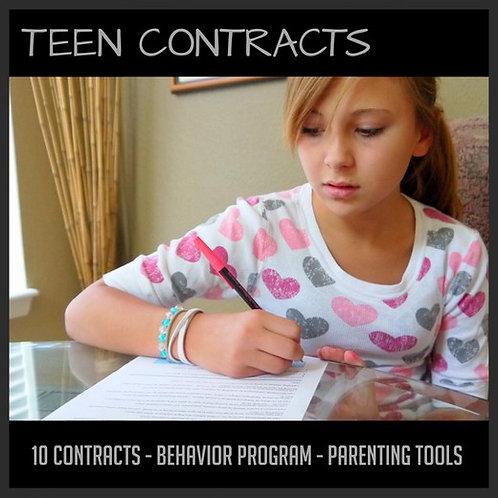 Teen Behavior Contracts Package