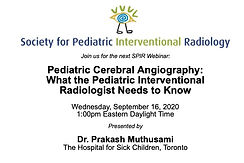 SPIR Webinar: Pediatric Cerebral Angiography - What the Pediatric Interventional Radiologist Needs to Know