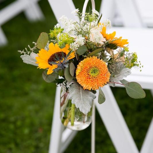 Mason Jars for Wedding Aisle