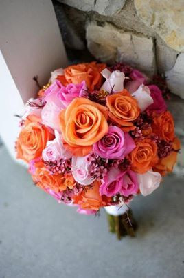 Hot Pink & Orange Bouq