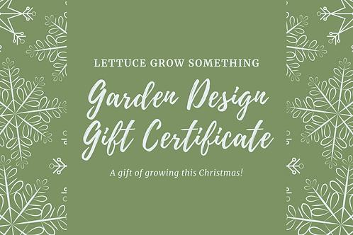 Garden Design Gift Certificate