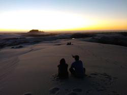 Sunset in dunes