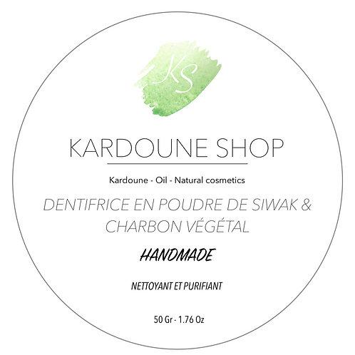 Dentifrice en poudre de Siwak et Charbon végétal