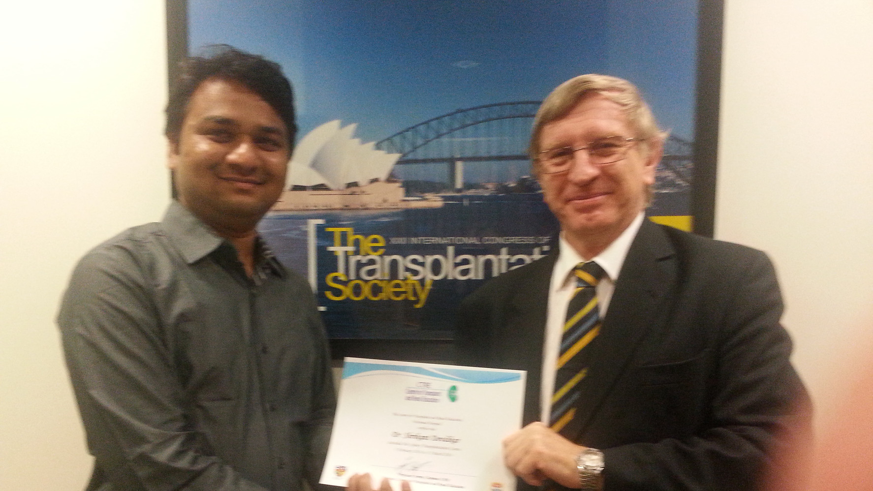 with Prof. J Chapman (Australia) Head of International Society of Nephrology