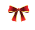 Christmas Gold & Red Bow Canva.png
