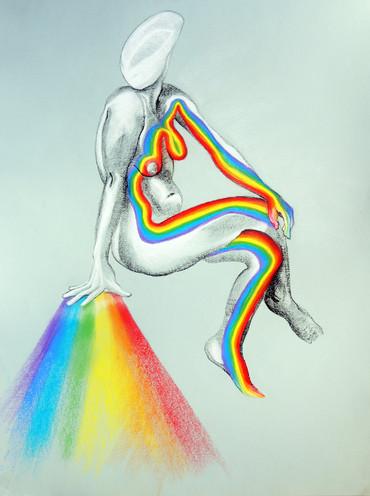 Rainbow Hand Energy