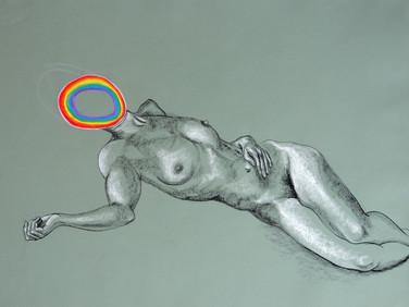 Nude with Rainbow Head