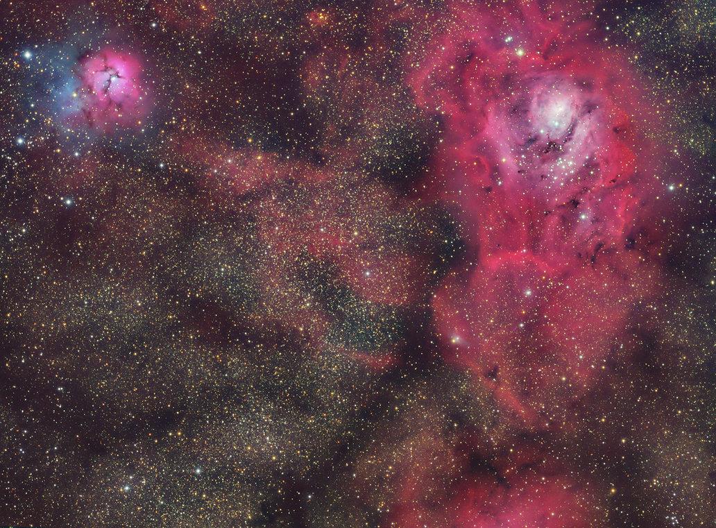 lagoon trifid nebula astronomy singapore astrophotography