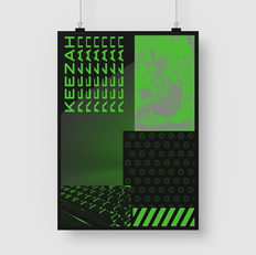 green gaming poster