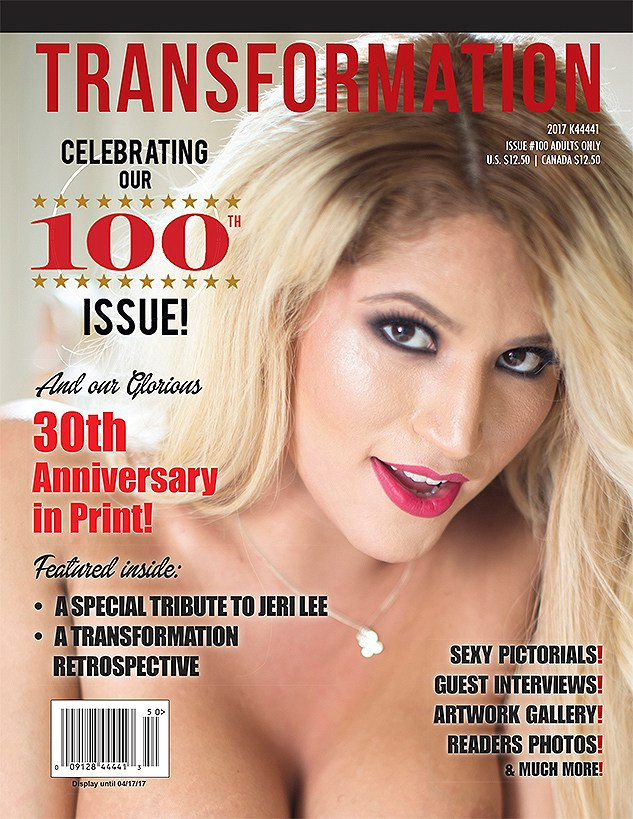 Morpheous shoots for Transformation Magazine's 100th Issue!