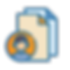 Icono con avatar de una persona con hojas de colores.
