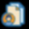 Icono con avatar de persona y hoja de colores.