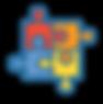 Icono con 4 piezas de puzle armado de colores.