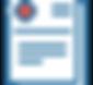 Icono con papeles médicos conuna cruz roja.