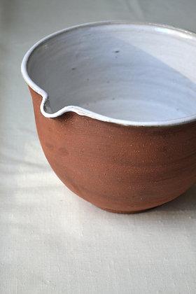 Extra Large Stoneware Mixing Bowl, Cabin Brown