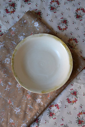 Low Stoneware Bowl with Antiqued Rim, Small