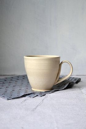 Satin White, Stoneware Mug