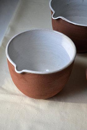 Large Stoneware Mixing Bowl, Cabin Brown
