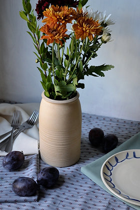 Stoneware Barrel Vase