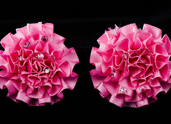 Hair pins COLORFUL flower shaped - LIGHT PINK