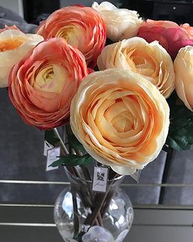 Beautiful Orange Silk Flowers